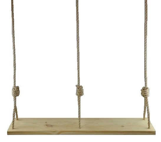 Premium Southern Pine Double 47 Inch Wooden Tree Swing