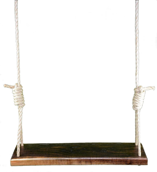 Signature Series American Black Walnut 36 Inch Wooden Tree Swing