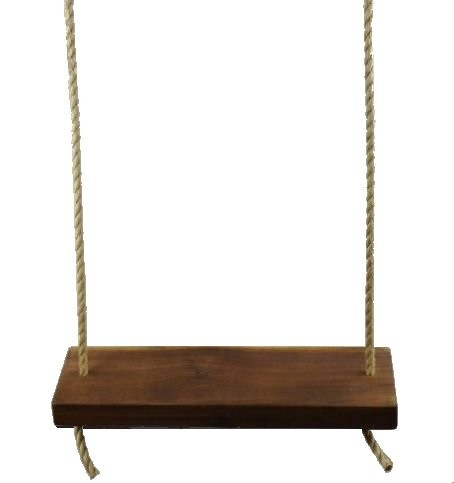 Rustic American Black Walnut 22 Inch 2 Hole Wooden Tree Swing