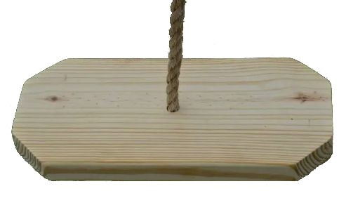 Rectangle Southern Pine Wooden Tree Swing