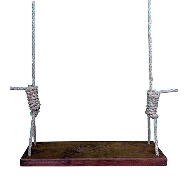Exotic African Mahogany 24 Inch Wooden Tree Swing