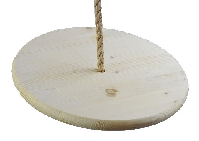 Southern Pine 15 Inch  Disc Wooden Tree Swing